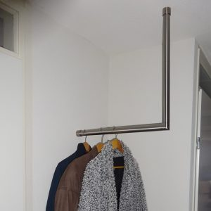 rvs kapstok plafond muur