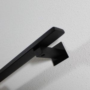 zwarte trapleuning vierkant 40 X 10