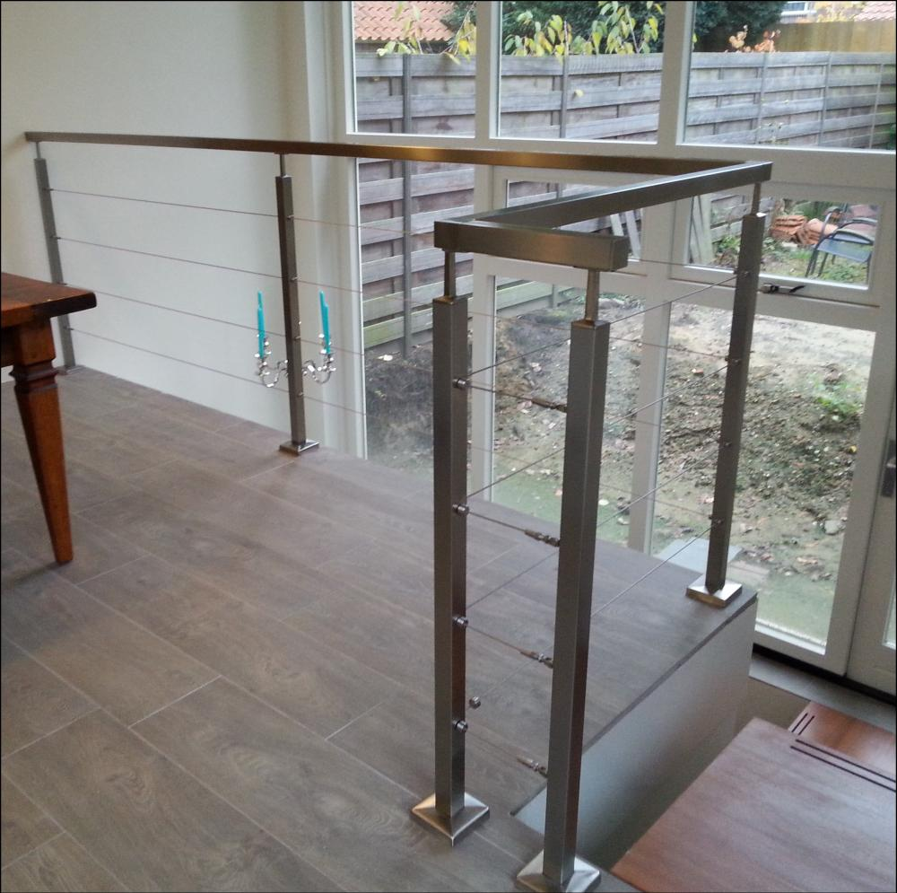 rvs balustrade vierkant