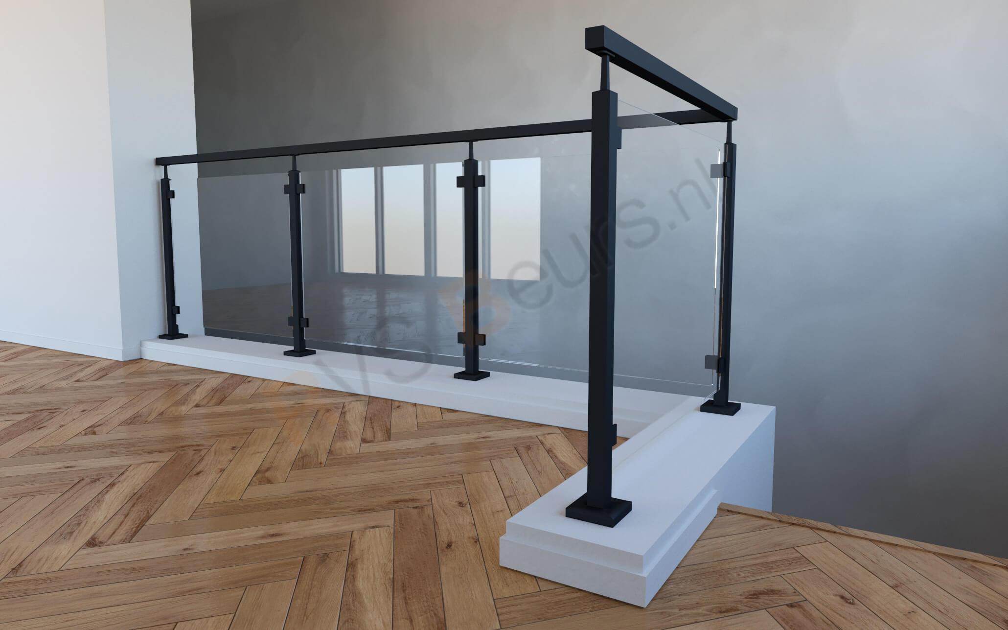zwarte balustrade modern