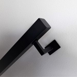 trapleuning zwart vierkant