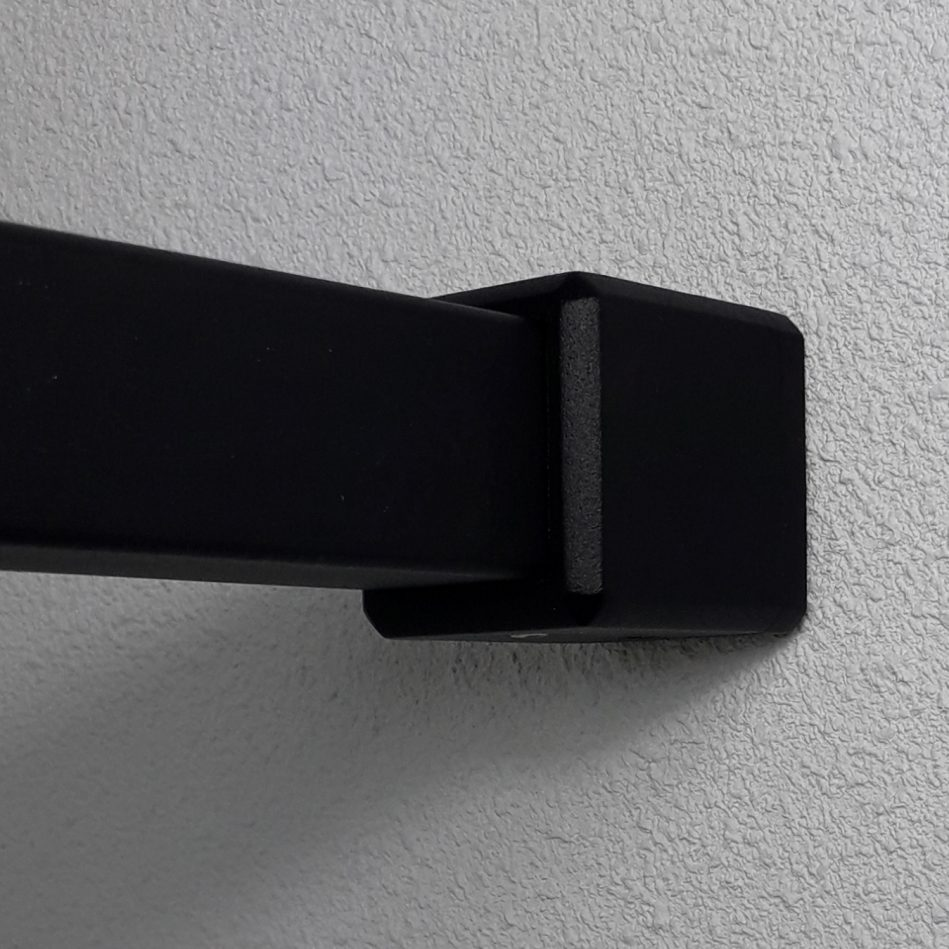 garderobestang vierkant zwart